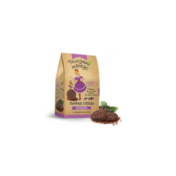 Хлебцы льняные шоколадные с какао, 100 гр в Смоленске